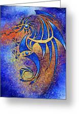 Dragissous V1 - Blue Dragon Greeting Card