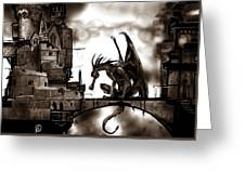 Dragon And Castle Greeting Card