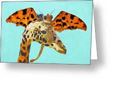 Dragon And Giraffe Greeting Card
