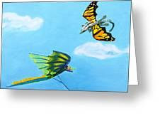 Dragon And Kite Greeting Card