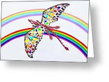 Dragon And Rainbow Greeting Card