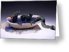 Dragon Bath Greeting Card