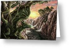 Dragon Branches Greeting Card