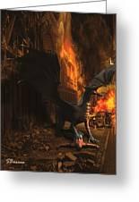 Dragon Flame Greeting Card by Solomon Barroa