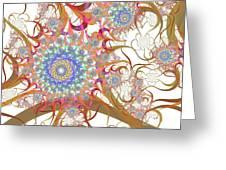 Dragon Flowers. Greeting Card