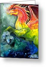Dragon Horse Greeting Card