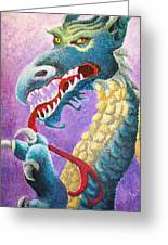 Dragon In Dots Greeting Card