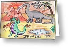 Dragon Land Greeting Card