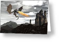 Dragon Scenery - 3d Render Greeting Card