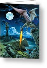 Dragon Spit Greeting Card by The Dragon Chronicles - Robin Ko