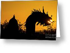 Dragon Sunrise 1 Greeting Card
