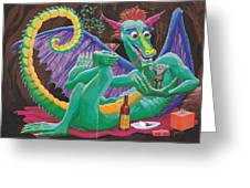 Dragon Sups Greeting Card