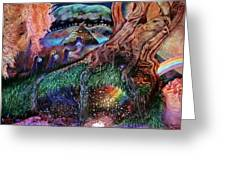 Dragon Under The Hill Greeting Card