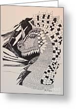 Dragon - Zentangle 16-04 Greeting Card