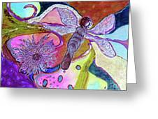 Dragonfly And Mum Greeting Card