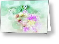 Dragonfly And Polka Dots Greeting Card