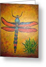 Dragonfly In Flight Greeting Card
