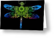 Dragonfly Kaleidoscope Greeting Card by Deleas Kilgore