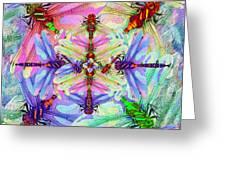 Dragonfly Mandala Greeting Card