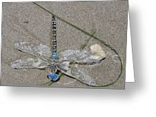 Dragonfly On The Beach Greeting Card