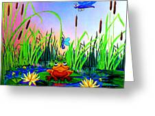 Dragonfly Pond Greeting Card by Hanne Lore Koehler