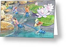 Dragonfly Races Greeting Card