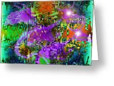 Dragons Abstract. Greeting Card