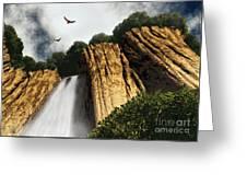 Dragons Den Canyon Greeting Card