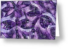 Dragons In Lavender Mosaic Greeting Card