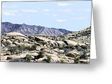 Dragoon Mountains Panorama Greeting Card