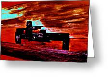 Dragster At The Strip Greeting Card