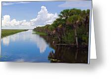 Drainage Canals Make Farming Possible In Florida Greeting Card
