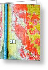 Drainpipe Amazing Wall And Number Three Greeting Card