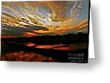 Drama In The Sky At The Sunset Hour Greeting Card