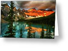Drama Of The Canadian Rockies Greeting Card