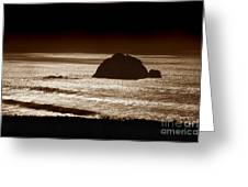 Drama On Big Sur Greeting Card