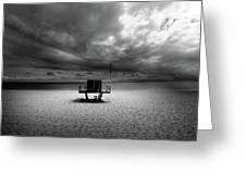 Dramatic Beach Greeting Card by Marc Huebner