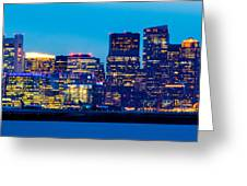 Dramatic Boston Skyline  Greeting Card