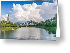 Dramatic Clouds Over Salzburg Greeting Card