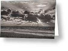 Dramatic Dutch Coast Greeting Card