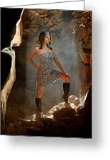 Dramatic Fashion Pose Greeting Card