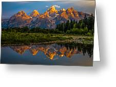 Dramatic Grand Teton Sunrise Greeting Card