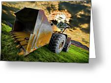 Dramatic Loader Greeting Card by Meirion Matthias