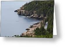 Dramatic Maine Coastline Greeting Card