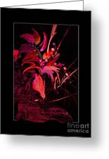 Dramatic Red Flowers Greeting Card