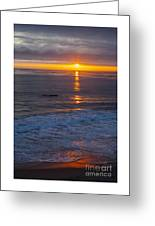 Dramatic Ocean Reflection Of Color Greeting Card