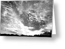 Dramatic Sky Bw Greeting Card