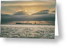 Dramatic Sky Over Hurst Castle Greeting Card
