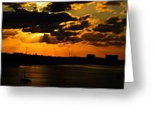 Dramatic Sunrise At Nassau Greeting Card