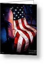 Draped American Flag Greeting Card